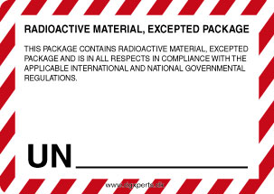 radioactivematerialexceptedpackage